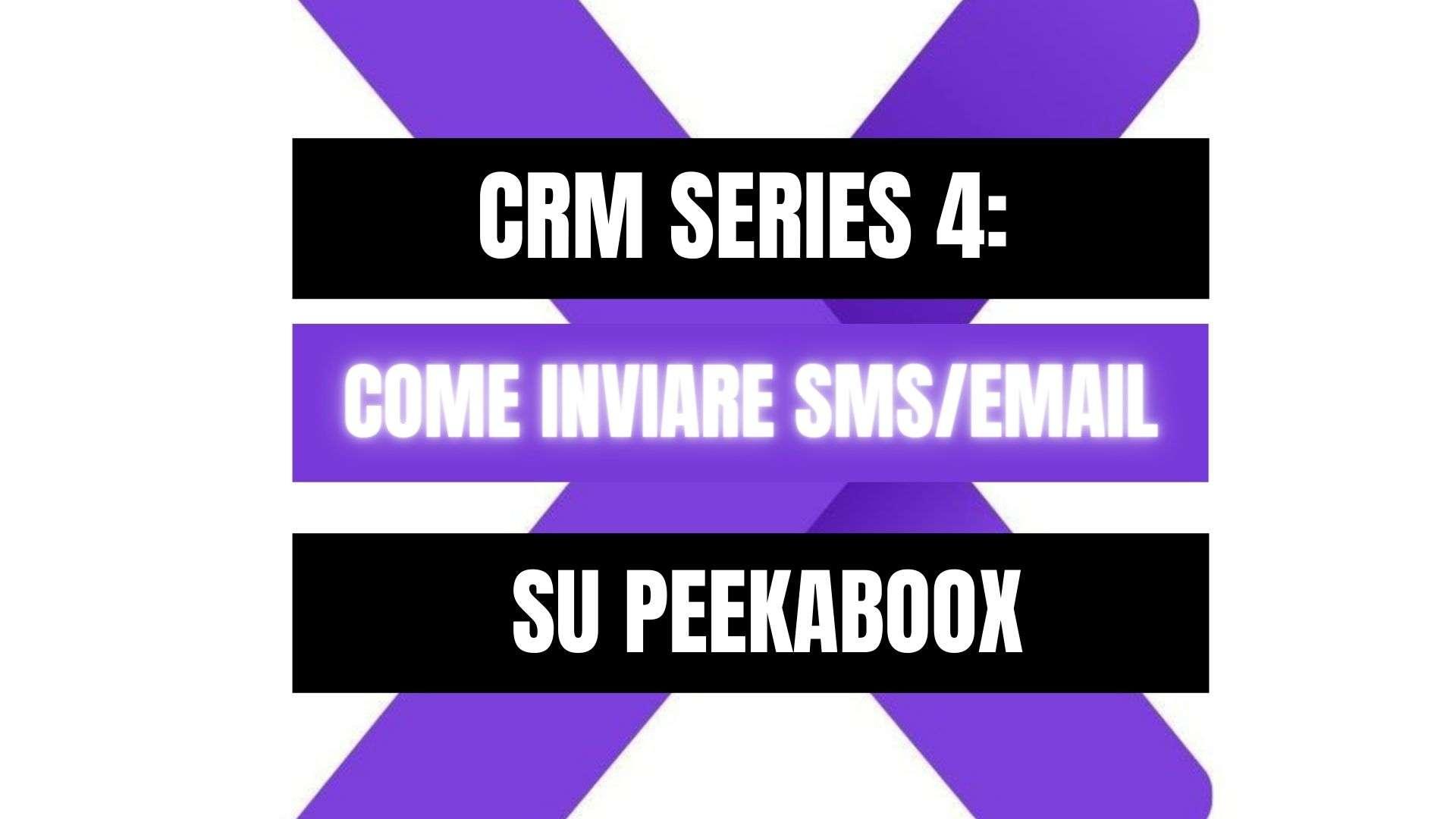 Peekaboox - Come inviare SMS ed email