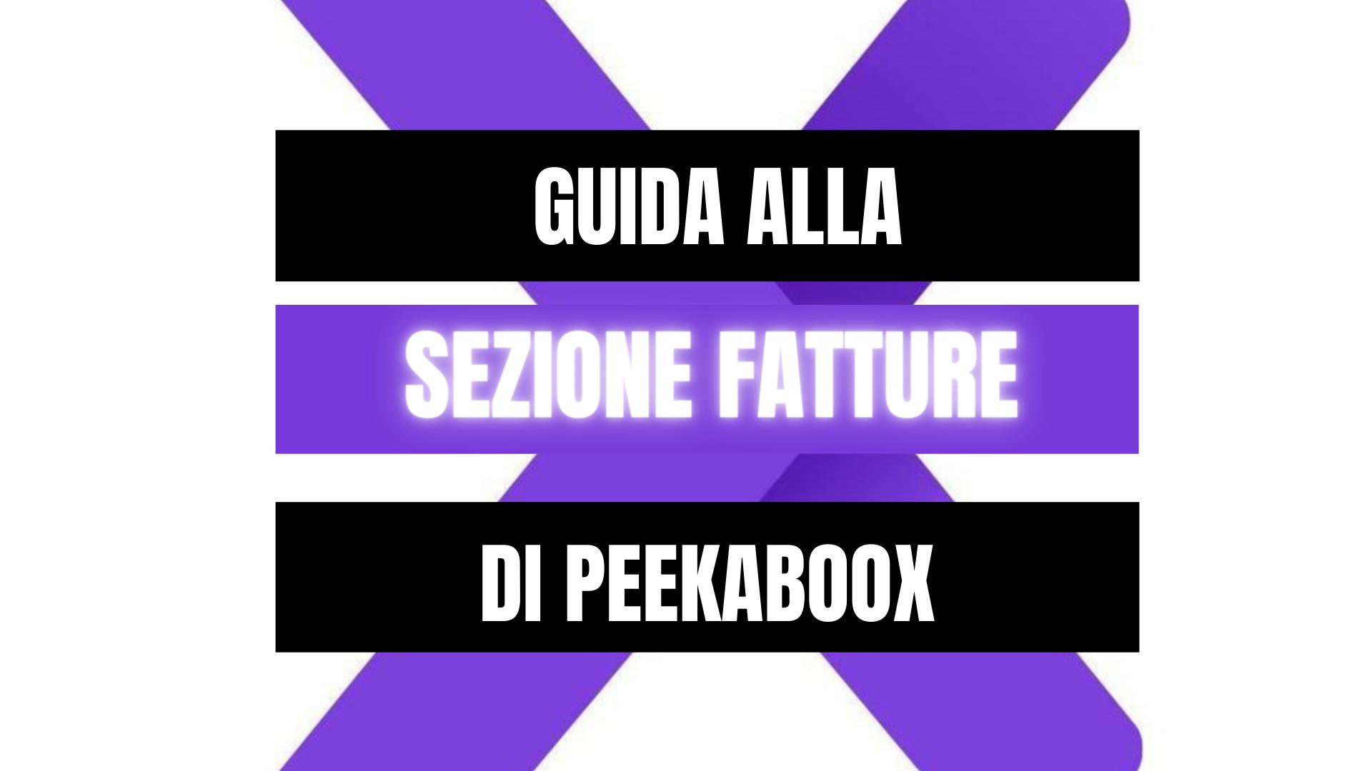 Peekaboox - La sezione Fatture di Peekaboox