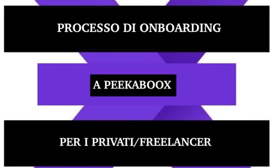 Peekaboox - Processo di onboarding per privati/freelancer