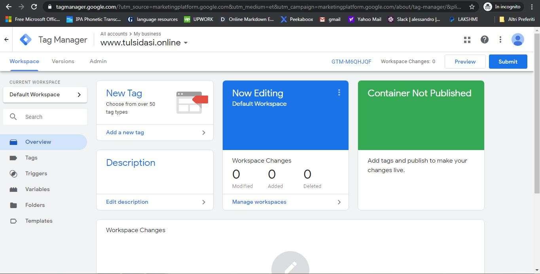 Peekaboox - Come configurare Google Tag Manager su Peekaboox