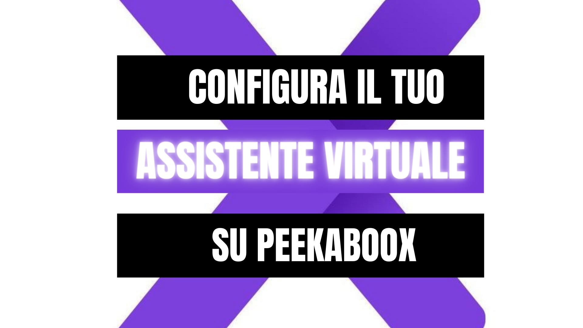 Peekaboox - Acquista e configura il pacchetto Assistente Virtuale