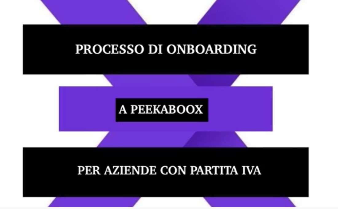 Peekaboox - Processo di onboarding per aziende con p. IVA